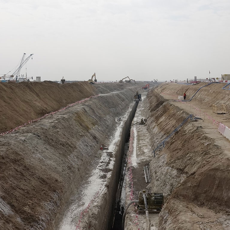 Billion dirhams infrastructure projects in Abu Dhabi